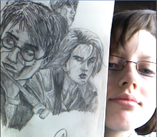 HP7 drawing AND ME by IvyDillonx