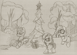 Luna Babysits on Hearth's Warming Eve by drawponies
