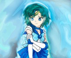 Mix Sailor mercury and Crona by CL-Pinkskull