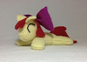 Pocket size Apple Bloom beanie plush by Bewareofkitty