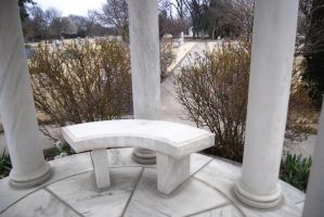 Cemetery: Marble Gazebo 1 by Stock-by-Kai