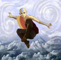 Teenage Aang by Lauren-Paikin