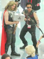 Thor and Hawkeye of Avengers at Anime Expo 2012 by trivto