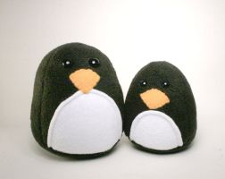 Persephone and Pippy Penguin Plushies by Saint-Angel