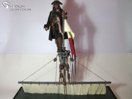 Jack Sparrow Sinking boat custom diorama by ShaolinCustoms