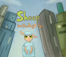 Sheep in the big city by Sunnynoga