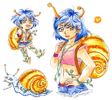 Snail-chan - CLOSED by Salvia-chan