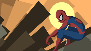 Sun set spidey by ExploadingRabbits