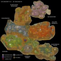 Outland World Map by rsholtis