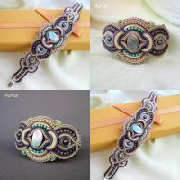 Bracelet with soutache by GaleriaAURUS