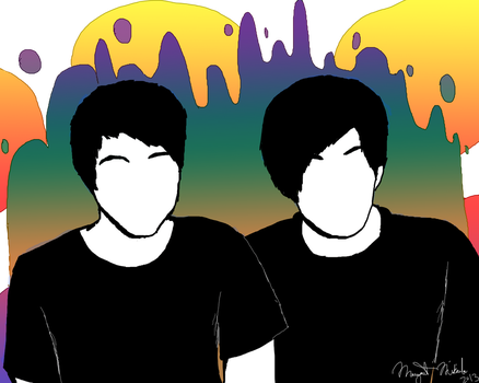 Dan and Phil by space--kitten