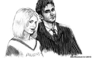 Ten and Rose [Doctor Who] by ArcMagnus