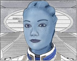 Liara T'Soni (Image processing) COLORED by BrainKiller20