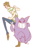Gengar Jig for shinyking by LeeLeeMoreau