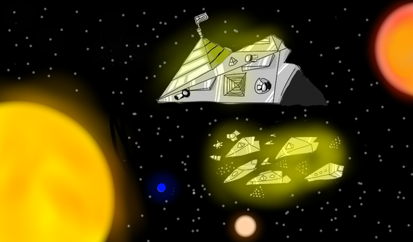 Space fleet by Tommatito