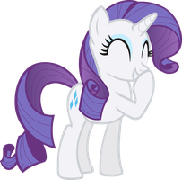 Rarity Giggle Vector by icantunloveyou