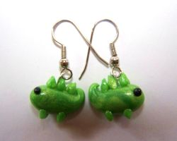 Stegosaurus Earrings by ByToothAndClaw