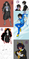Homestuck sketchdump by Maerc-Eci