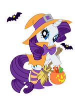 Nightmare Night Rarity witching hour by kikyoyaoi