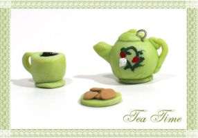 Tea Time Teapot Charm by chat-noir