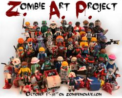 Zombie Art Project year 1 by zombiemonkie