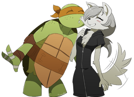 Commission: TMNT: Puppy love by Samantai
