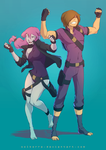 Commission: Kylie and Mikey by SolKorra