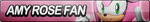Amy Rose Fan Button (Resubmit) by ButtonsMaker
