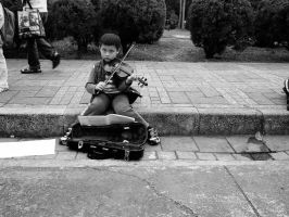 Young Street Violinist by bQw