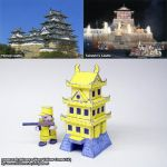 Yellow Comet papercraft Japanese castle HQ by ninjatoespapercraft
