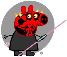 Darth Peppa by handtoeye