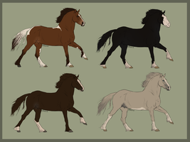 Welsh Warmblood Pointables by Vox-Morda