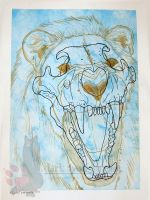 Lion Skull by NightTracker
