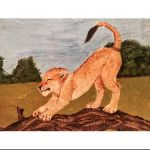 Lion Cub Painting by l0st-amul3t