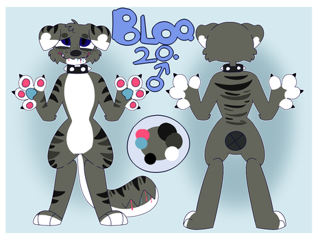 Bloo-Reference sheet by MouthFocus