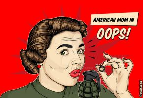 American Mom Oops by roberlan
