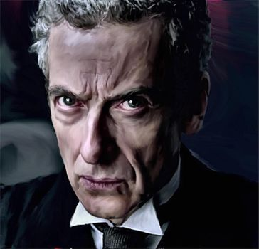 Peter Capaldi - New Doctor Who - Digital Painting by davrosuk