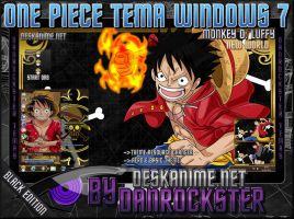 Monkey D. Luffy Black Theme Windows 7 by Danrockster