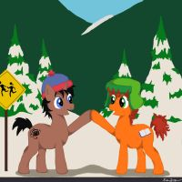 Stan and Kyle Brohoof by quidditchchick004