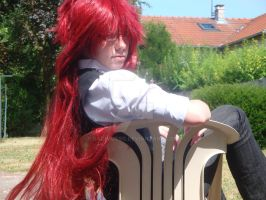 a cosplay of grell sutcliff 2 by RadimusSG