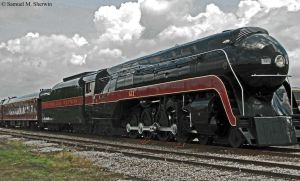 Norfolk and Western 611 at Spencer, NC by Aranimu
