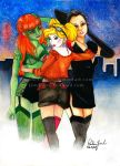 DC Girls Commission by PaulineFrench