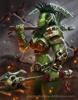 Warcraft Female Orc Warrior by JordanKerbow
