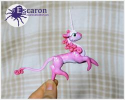 COMM: Pink Minicorn - Sculpture by Escaron