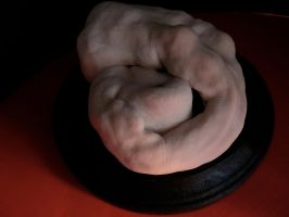 Clay Sculpture - Title: Sleep by RusselCameron