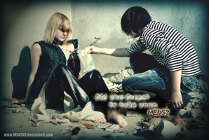 Mello and Matt cosplay: Meds by WildSiD