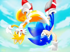 Sonic And Tails - Flying High by Paredi