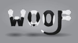 Woof - Calligram Tutorial by ChewedKandi