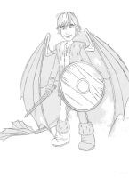 Hiccup the Night Fury by BeastialMoon