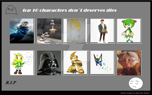 Top 10 Characters that didn't deserve to die by annonmyous